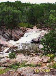 Texas. Falls at Inks lake