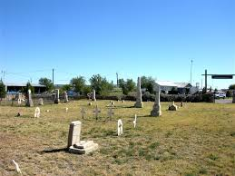 The Fort Stockton Cemetery.