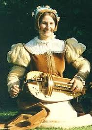 tudor hurdy gurdy player