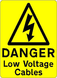 DANGER Low Voltage Cables