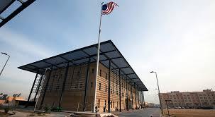 An American flag flies in