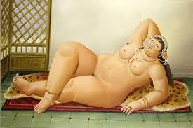 """Fernando Botero """"Odalisca"""""""