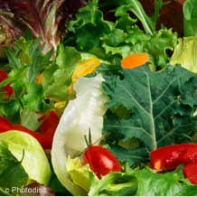 Eating green leafy vegetables