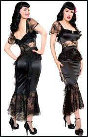 Stop Staring black satin dress