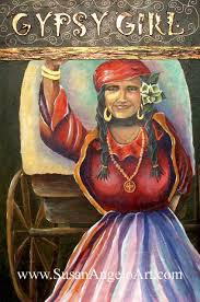 Gypsy Girl Painting by