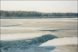 Ice-out on Sebago Lake, Maine, ...
