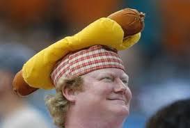 a hot dog cap at