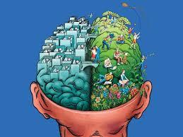left-brain thinking gave