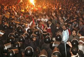 التظاهرات المصریة امام السفارة