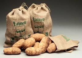 in a Taters burlap bag.