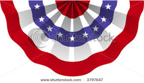 An American flag bunting