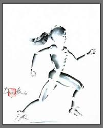 Cross country runner painting by ...